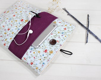 Acer Aspire sleeve, 15 inch laptop case, Macbook Pro sleeve, floral laptop case, Lenovo Flex 15 case, Macbook Pro case, unique gift for her