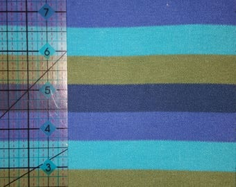 1 + yards of Multi-colored cotton jersey knit