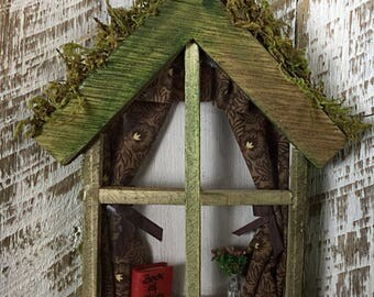 Fairy Garden Wooden Window