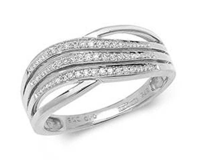 DIAMOND CROSSOVER White Gold Ring
