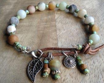 Bohemian bracelet gift for her boho bracelet boho chic bracelet womens jewelry rustic bracelet beaded bracelet gemstone jewelry