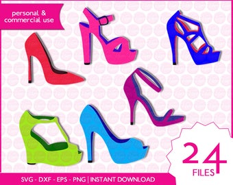 WOMEN'S SHOES | svg - dxf - eps - png | digital cutting files for cutting machines | clipart | vector files