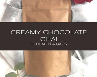 Creamy Chocolate Herbal Chai Tea Bags