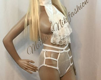 After Midnight Mesh Womens Brief/ See Through Knickers in White and Black Colors/ Sizes S M L XL XXL Sexy Lingerie