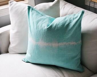 Shibori Dyed Pillow Case - Tie Dyed Throw Pillow - Throw Pillow - Home Decor - Boho Decor - Tie Dye *Pillow Case Only*