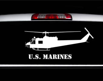 U.S. Marines UH-1 Huey Decal