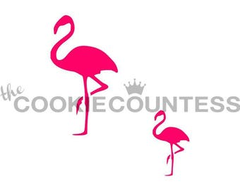 FAST SHIPPING!! Flamingo in 2 sizes Stencil, Flamingo Stencil,  Flamingo Cookies, Flamingo Cookie Stencil, Flamingos