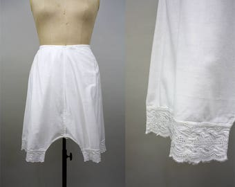 Edwardian Cotton Bloomers / Victorian Bloomers / 1900s Lingerie / Drawstring Waist / White Edwardian Pantaloons / Broderie Anglaise / XXL