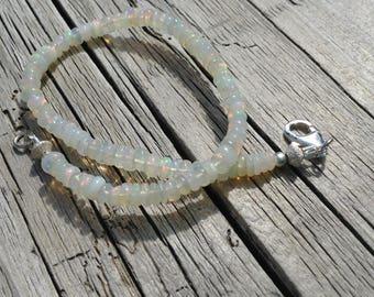 Natural fire Opal Bracelet in 925 Silver