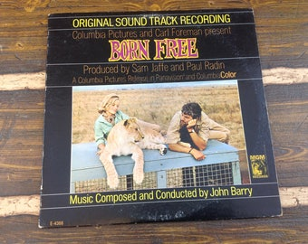 Original Soundtrack Recording Born Free John Barry Vintage Vinyl Record LP 1966