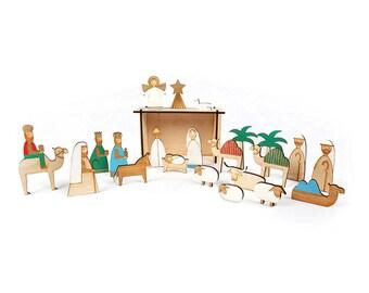 Advent Calendar   Christmas Decorations   Wooden Advent Calendar   Wooden Nativity Scene   Wooden Nativity Advent Calendar   Nativity Scene
