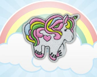 Unicorn Iron on Patch(M2), Cartoon Applique Embroidered Iron on Patch Size 6.6(W)x5.7(H) cm