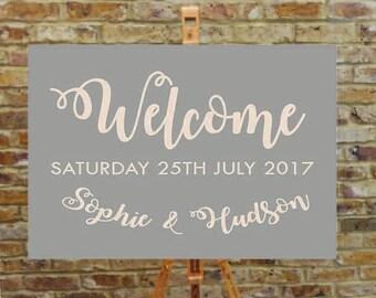 Welcome wedding signage