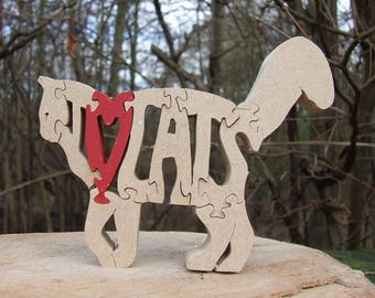 cat gift, cat ornament, wooden cat, chic cat gift, gift for cat lover, wooden cat gift, gift for sister, gift for aunt, home decoration