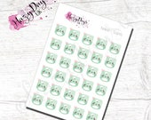 Kawaii Scales - Cute Kawaii Planner Stickers for weight loss/gain tracking, ECLP, Happy Planner, TN, Personal Planner etc