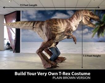 Dinosaur Costume T-Rex Durable Rubber Skin.