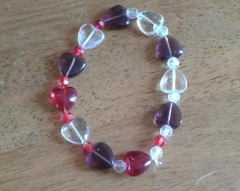Multi Colored Heart Bracelet