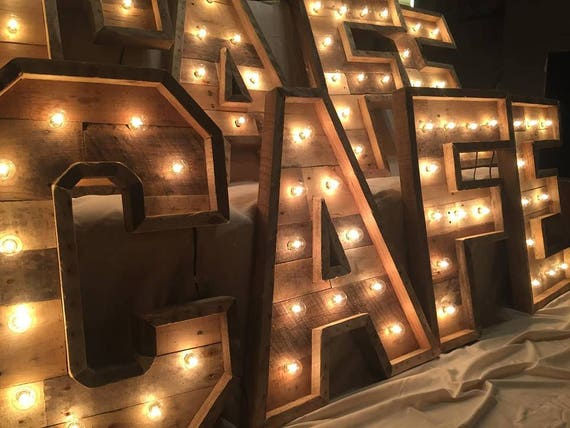 giant marquee letters 30 lighted marquee letters rustic wood lighting 14126 | il 570xN.1288160549 cpie