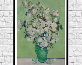 Van Gogh Roses 1890 Van Gogh Painting Reproduction Van Gogh Poster Van Gogh Print Classic painting (sizes up to 50cm x 70cm)