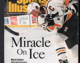 Vintage Magazine - Sports Illustrated : April 19 1993 - Mario Lemieux