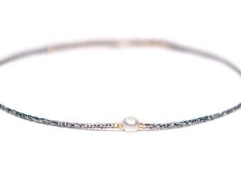 SOPHIA NECKLACE* dainty beaded choker necklace