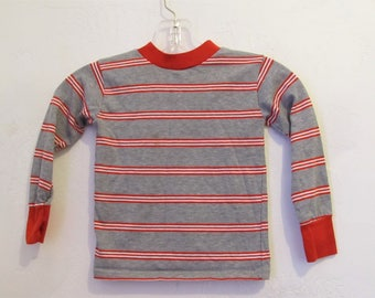 A Little Boy's Vintage 70's,Striped Long Sleeve HIPPIE era Top.S