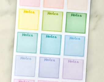 Mini Post-It Note Planner Stickers