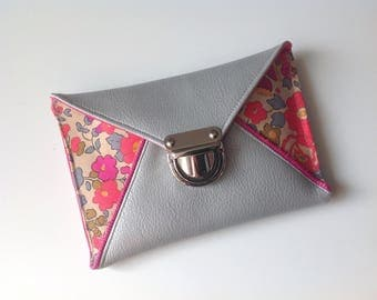 Clutch holder coin/papers Liberty betsy neon, silver