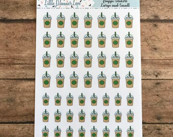 Frappe Coffee Planner Stickers