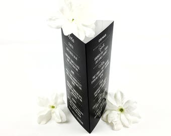Personalised Chalkboard Wedding Table Talker Menu / Place setting / Table Name / Table Number / UK