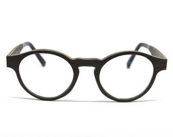 Wood Eyeglasses Black Oak Wood Notched Bridge Wooden Glasses Eco Glasses Black Glasses Vintage Glasses Wooden Frames Mens Glasses Womens