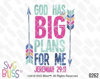 Christian SVG, God Has Big Plans, Faith, Kids, Nursery, Original, DXF, Cut File, Cricut & Silhouette Compatible Digital Download Design File