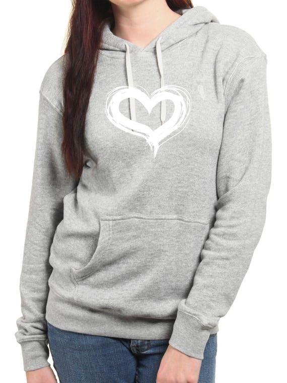 Round neck women hoodie HEART