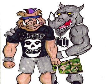 bebop and rocksteady stay punk