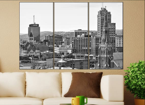 syracuse, new york skyline canvas wall art  syracuse canvas wall art art syracuse wall decoration syracuse large canvas wall art