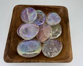 Small Rainbow Quartz Palm Stone - Angel Aura Quartz - 7th Chakra - Crown Chakra - Reiki - Energy Healing - Palmstone - All Chakras