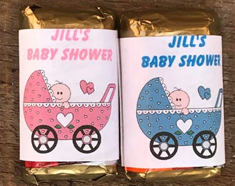 Personalized Baby Shower Candy Wrappers Hershey Nugget wrappers