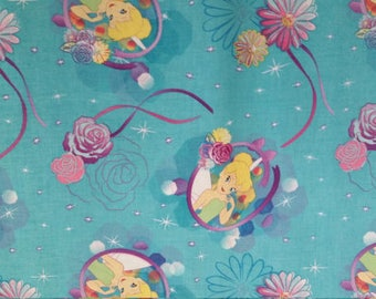 Tinker Bell Cotton Fabric by the Yard
