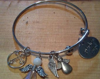 Guardian Angel Bangle Bracelet