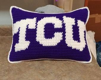 TCU Horned Frogs Pillow