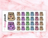 20% OFF A379 | Lunch stickers, take out stickers, repositionable Stickers Perfect for Erin Condren Life Planner Filofax