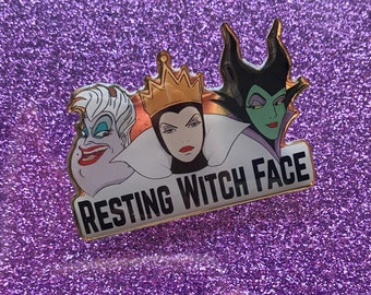 Resting Witch Face Pin