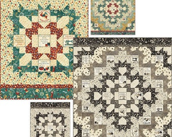 Quilters Medallion Quilt Pattern - uses Northcott A Stitch in Time fabric collection