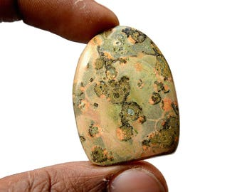 Leopard Skin Jasper 36 Cts Natural Gemstone Cabochon Jaguar Gemstone Superb Free Form Shape Hand Polish Loose Gemstone 35x27x5 MM R14033