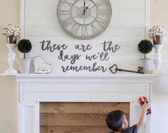 these are the days we'll remember  | individual metal words | metal sign | wall decor
