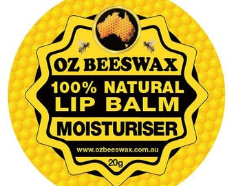 Oz Beeswax 100% Natural Lip Balm