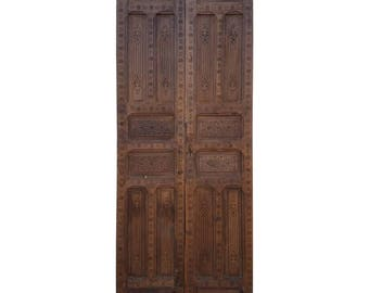 Moroccan Carved Cedar Wood Door-Double Panel Two