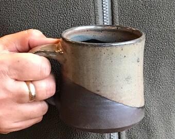 Valentine Black and Gray Coffee Mug - Tea Mug  Hot Chocolate Mug Pottery Mug Earthy Mug Ceramic Black Mug Pottery Mug Unique Mug