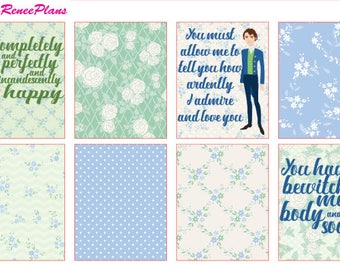 Pride and Prejudice Weekly Kit for the Erin Condren Life Planner Vertical or MAMBI Happy Planner Classic