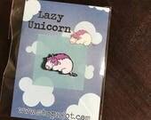 Sleepy Unicorn Enamel Pin